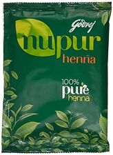 100% Natural Godrej Nupur Mehndi HEENA Hair Color Amla Brahmi - No Ammonia