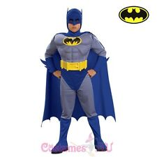 Deluxe Kids Boys Batman Costume Brave And Bold Muscle Chest Child Fancy Dress