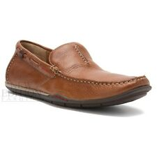 Clarks Rango Rumba Men's Driving Moccasins Leather Shoes Style 63721 Tan