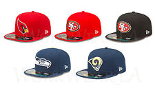 New Era 5950 NFC West OnField Cap NFL Fitted Hat Cardinals SF49ers Seahawks Rams