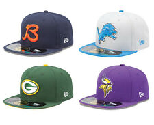 New Era 5950 NFC North On Field Cap NFL Fitted Hat Bears Lions Packers Vikings
