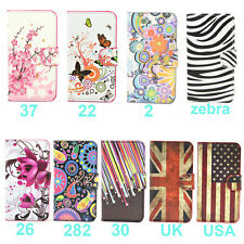 Wallet Flower Stand Leather Flip Case For Samsung Galaxy Ace S7272