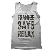 Frankie Says Relax Retro Vintage Music 80's Party Urban Fashion Mens Tank Top