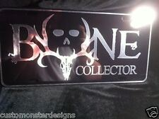 Bone Collector License Plate All Mirror Plate & Chrome Vinyl Colors