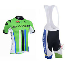 Cannondale Cycling Clothing Jersey & Bib Shorts Kit Sets Coolmax Padding A32