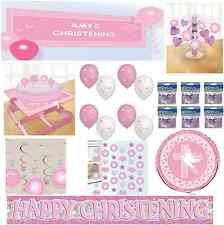 Pink Dove Christening Party Decorations - Balloons - Banners - Centrepieces