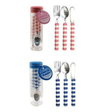 Blue or Pink Gripables Silverware Eating Utensils Occupational Therapy Autism