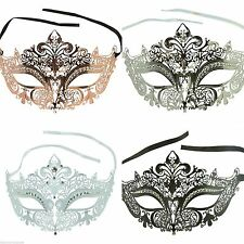 Sexy Princess Laser Cut Venetian Masquerade Mask with Sparkling Rhinestones