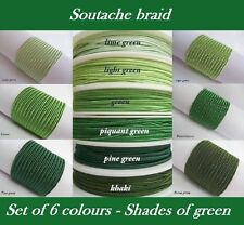 Original Soutache Braid Russia Cord 6 colours x 1, 2, 5 metres 100% viscose 3mm