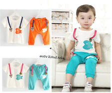 New Baby Boy Kids 2Pcs Summer Clothing Fish T-shirt+ Cropped Pants 12-36M A076