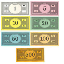 Monopoly Money - Traditional Currency (Original Colors) Replacement -U Pick NEW