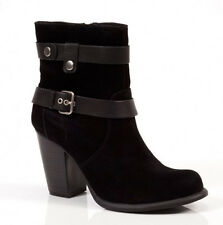 New Kenneth Cole Reaction Womens Unlisted French Press Bootie Shoes SZ 6 Black