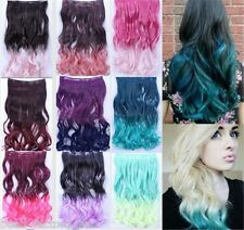 Nice Two Tone Gradient Curly Hair Ombre Hair Hairpieces Clip in Hair Extensions