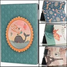 Cute Printing Pattern Cover For iPad Air PU Leather Stand Smart Case iPad 2 3 4
