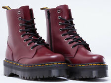 Dr. Martens Women`s Jadon Aggy Style Cherry Red Platform Boot US 5 6 7 8 9 10