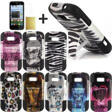 Lantean Hybrid Armor T-Stand Phone Case for ZTE Savvy Z750C Awe N800 Reef N810 D
