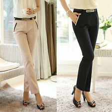 New Women Slim Fit Skinny Formal OL Pencil Pants Business Casual Long Trousers