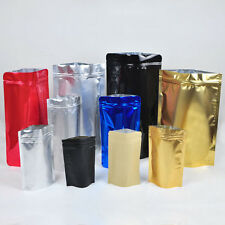 Grip seal stand up zip lock bags mylar foil pouch assorted sizes colors #C1