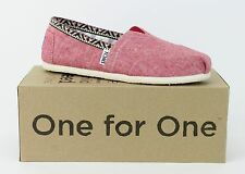 Toms Womens Classics Red Chambray Trim