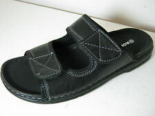 Mens Ronzo 09F13816blk Black Synthetic Double Velcro Strap Mules