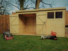 WOODEN GARDEN SHED 10X5 12X5 14X5  PRESSURE TREATED TONGUE AND GROOVE PENT SHED