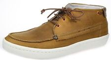 Wrangler Mens Leather Tan brown desert boat shoe casual lace up boots