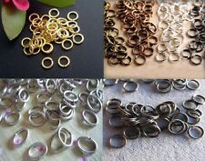 Jump Rings Plated Gold Silver Bronze Black Open, Split (Double)or Oval 3MM-10MM