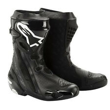 2015 Alpinestars Non-Vented Supertech R Track Riding Boots Black ALL SIZES