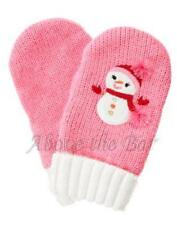 NWT/NWOT Gymboree Cozy Cutie Pink Snowman Sweater Mittens 0-12 mo