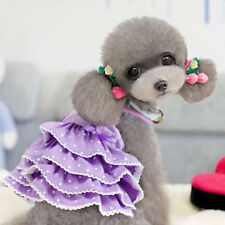 Clothes For DogsPuppy Pet Dog Clothes Cotton Layered dress Dog Wedding Dress