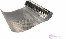 "Extractor Fan Ridged Reflective Bubble Spiral Duct Wrap 4"" 100mm X 2m"