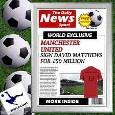 Personalised Football Newspaper gift for Manchester United fan