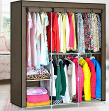 Clothes Closet Organizer Storage Rack Portable Wardrobe Clothing Hanger Armoires
