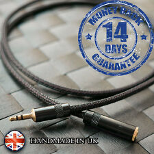 Quality Double-Screened Stereo 3.5mm 3,5mm mini jack extension cable AUX mp3