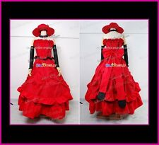 Black Butler Cosplay Costume Madam Red Graceful Dress With Pretty Red Hat Hot