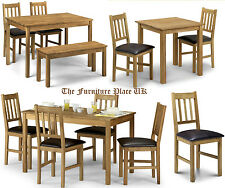 Oak Dining Set  Chair or Table coffee table lamp table nest oil finish hard wood