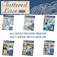 The Tattered Lace Craft Magazine Choose Issue 1-10 +Free Stephanie Weightman Die
