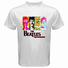New THE BEATLES *Personels Rock Band Legend Men's White T-Shirt Size S to 3XL