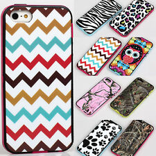 2 in 1 detachable TPU camouflage zebra case cover skin for iPhone 5 5S 5G 6th