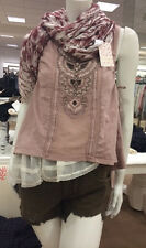 NWT Free People Lonesome Dove Top in dusty lilac