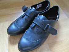 Clarks Bootleg No Task black leather shoes. 4F & 6.5F. New and boxed.