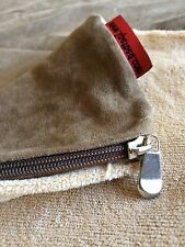 Replacement Dog Bed Duvet Coral Fleece Beige External Zippered Cover Med - Large