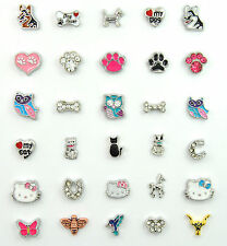 FLOATING LOCKET CHARMS FITS ALL GLASS LOCKETS ANIMALS