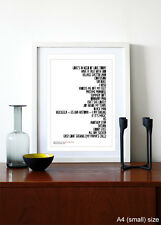 Stevie Wonder -Songs In The Key Of Life ❤ typography poster art print - A3 A2 A1
