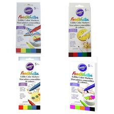 Wilton  Food Writer Edible different Color Markers Tip .35oz 5/Pkg M4412