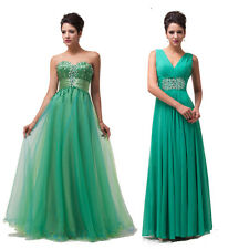 2Styles GREEN Evening Bridal Prom Bridesmaid Formal Party Wedding Long Dress NEW