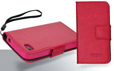 Leather Wallet Soft Gel Case Cover for  iphone 4G 4GS  +ScreenGD
