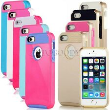 PC Shockproof Dirt Dust Proof Hard Matte Rugged Heavy Duty Cover Case For iPhone