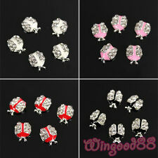 10pcs 3D Alloy Rhinestones Ladybird Lady Bug Insect Nail Art Tips DIY Decoration