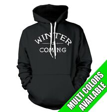WINTER IS COMING HOODIE Super Soft GAME OF Pimp Gimp Stark Show TV Thrones T0072